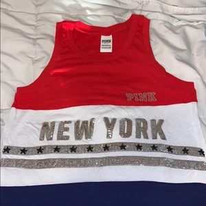 VS PINK new york sparkly sequin tank ❤️💙